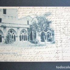 Postales: POSTAL TARRAGONA. MONASTERIO DE POBLET. EL PATIO. HAUSER Y MENET. PRIMERA ED. AÑO 1906.. Lote 176099405