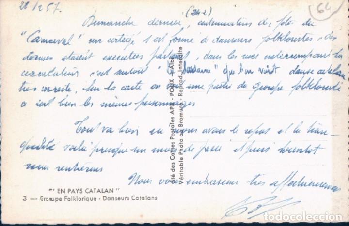Postales: POSTAL BARCELONA - EN PAYS CATALAN - GROUPE FOLKLORIQUE - DANSEURS CATALANS - APA - Foto 2 - 176167114