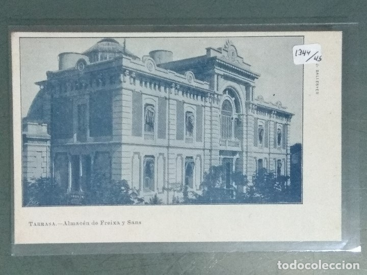 POSTAL TARRASA ALMACEN DE FREIXA Y SANS (Postales - España - Cataluña Antigua (hasta 1939))