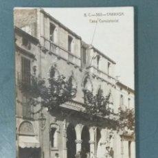 Postales: POSTAL FOTOGRAFICA TARRASA - B.C. 365 CASA CONSISTORIAL CIRCULADA.. Lote 176215698