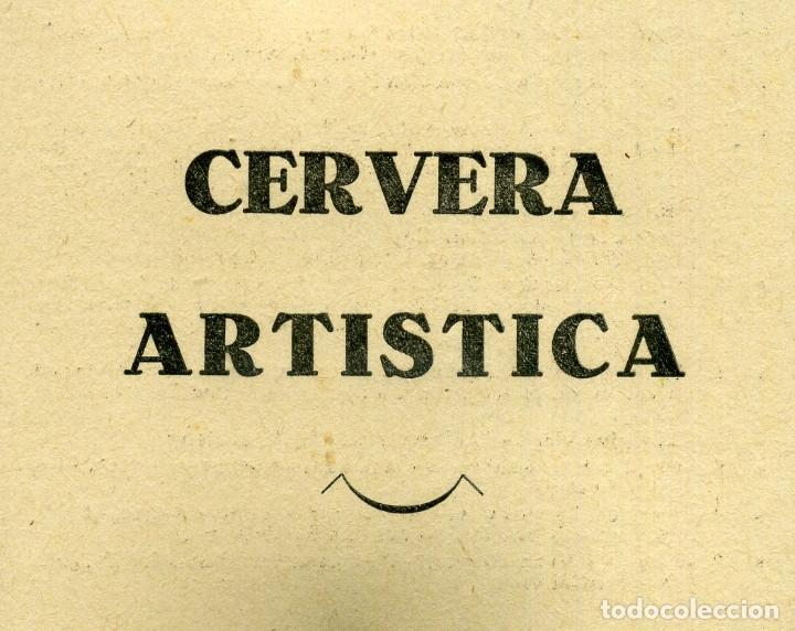 CERVERA ARTISTICA (Postales - España - Cataluña Moderna (desde 1940))