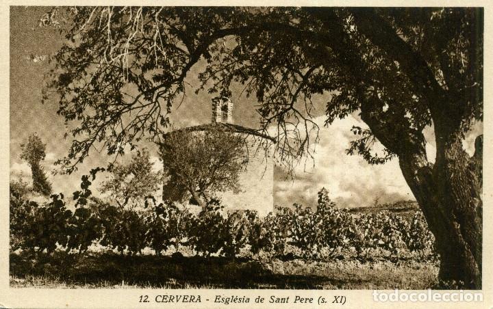 CERVERA - ESCLÉSIA DE SANT PERE (Postales - España - Cataluña Moderna (desde 1940))