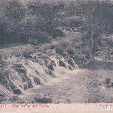 Postales: POSTAL OLOT - MOLI Y SALT DEL COLLELL - ROISIN 69 - RAMON BONET MAYOR 3. Lote 176364094
