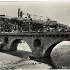 Postales: BALAGUER - FOTOGRAFICA - Nº11 PUENTE SOBRE EL RIO SEGRE Y SANTO CRISTO - ROMEU - FOTO ZERKOWITZ. Lote 176633573