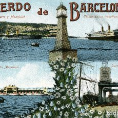 Postales: BARCELONA - RECUERDO DE BARCELONA. Lote 176742059