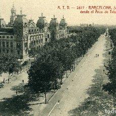 Postales: BARCELONA - SALON DE SAN JUAN. Lote 176744704