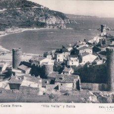 Postales: POSTAL TOSSA - COSTA BRAVA - VILA VELLA Y BAHIA - 53 J SOLER BARBER. Lote 176801019