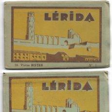 Postales: LÉRIDA - ESTUCHES 1 Y 2 FONDO AMARILLO - LBº Fº MONTSERRATINO - 10 POSTALES CADA UNO - MUY BUEN ESTA. Lote 177062804