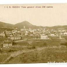 Postales: GIRONA BREDA VISTA GENERAL ED. J.B. 1. POSTAL FOTOGRÁFICA. SIN CIRCULAR. Lote 177191759