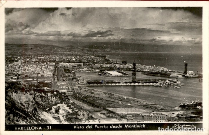 BARCELONA – 31 – VISTA DEL PUERTO DESDE MONTJUICH – ZERKOWITZ (Postales - España - Cataluña Antigua (hasta 1939))