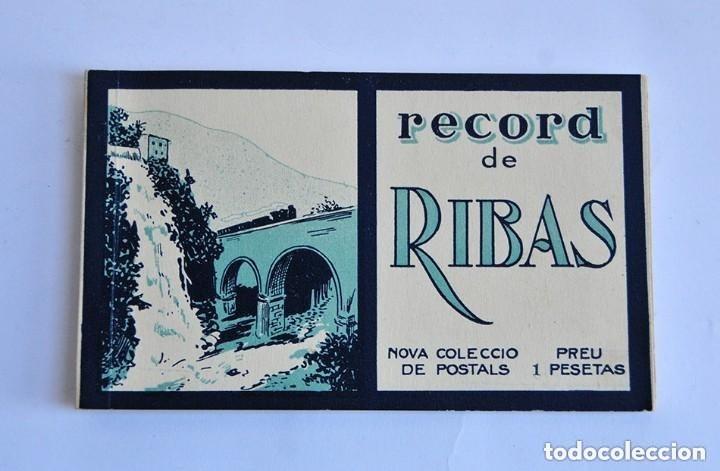 ANTIGUO LIBRO DE POSTALES RECORD DE RIBAS 10 POSTALES COMPLETO (Postales - España - Cataluña Antigua (hasta 1939))