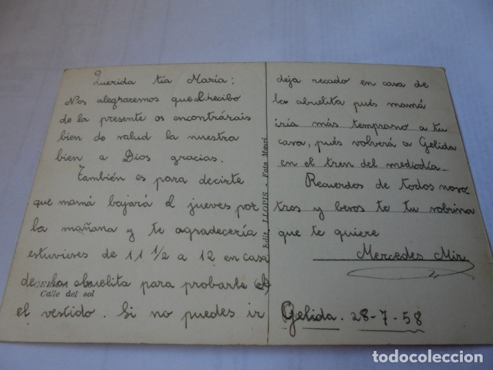 Postales: magnifica antigua postal gelida,calle del sol - Foto 2 - 178022797