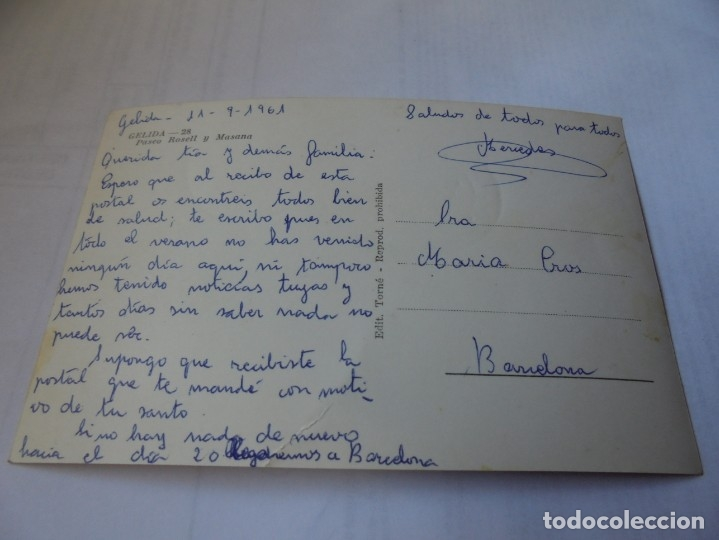 Postales: magnifica antigua postal gelida,paseo rosell y masana - Foto 2 - 178022944