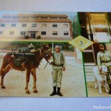 Postales: MAGNIFICA POSTAL ANTIGUA B.ON. CATALUÑA IV. 3ª CIA. BERGA . Lote 178024833