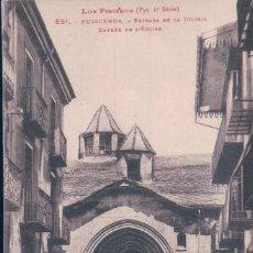 Postales: POSTAL PUIGCERDA - LOS PIRINEOS - ENTRADA DE LA IGLESIA - L F 651. Lote 178096737