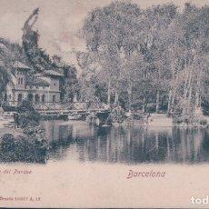 Postales: POSTAL BARCELONA - DETALLE DEL PARQUE - ROMMLER & JONAS - CIRCULADA. Lote 178100103
