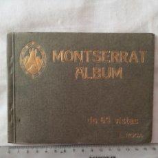 Postales: ALBUM DE 69 FOTOGRAFIAS EN BLANCO Y NEGRO DEL MONASTERIO DE MONTSERRAT Y SUS ALREDEDORES.. Lote 178349101