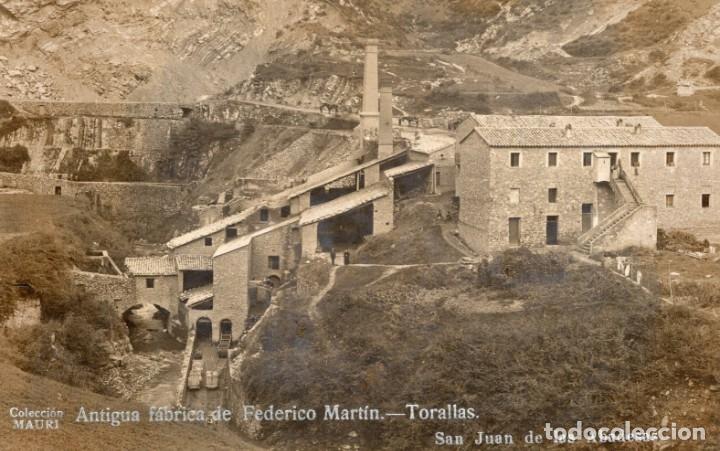 SAN JUAN DE LA ABADESAS. ANTIGUA FÁBRICA DE FEDERICO MARTÍN. MAURI (Postales - España - Cataluña Antigua (hasta 1939))