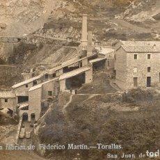 Postales: SAN JUAN DE LA ABADESAS. ANTIGUA FÁBRICA DE FEDERICO MARTÍN. MAURI. Lote 178351247