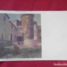 Postales: CASTELL DE FELS - FORTIFICACIONS MITJ-EVALS. Lote 178688786