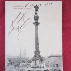 Postales: BARCELONA - MONUMENTO A COLON. Lote 178689457
