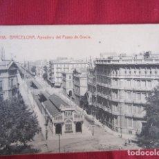 Postales: BARCELONA - APEADERO DEL PASEO DE GRACIA. Lote 178709091