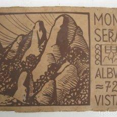 Postales: MONTSERRAT - ÁLBUM 72 VISTAS - HUECOGRABADO RIEUSSET (BARCELONA).. Lote 178716620