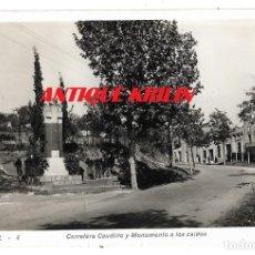 Postales: EL PAPIOL Nº 6 CARRETERA CAUDILLO Y MONUMENTO CAIDOS .- EDICION OLIVÉ / FOTO MAURI . Lote 178732633