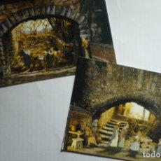 Postales: LOTE POSTALES PESEBRE MONASTERIO DE SOLIUS. Lote 178764945