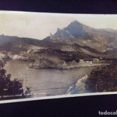 Postales: POSTAL FOTOGRÁFICA 98 MALLORCA SOLLER ENTRADA DEL PUERTO CIRCULADA 1947. Lote 178854123