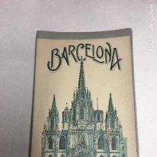 Postales: BARCELONA - 20 POSTALES ANTIGUAS -BLOCK ACORDEON - ROISIN - 10 VISTAS - IMPECABLE. Lote 178896536