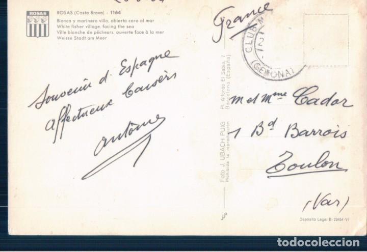 Postales: POSTAL ROSAS, BLANCA Y MARINERA VILLA ABIERTA AL MAR, UBACH PUIG 1164 - Foto 2 - 178912285