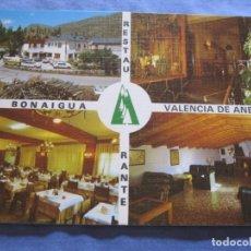 Postales: POSTAL DE RESTAURANTE LA BONAIGUA - VALENCIA D'ANEU. Lote 178936886