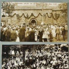 Postales: 3 ANTIGUAS POSTALES FOTOGRÁFICAS DE LA GARRIGA. TEATRE NATURA Y APLEC MARE DE DEU. SIN CIRCULAR. Lote 178940481