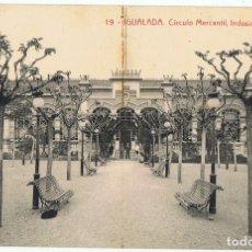 Postales: POSTAL IGUALADA CÍRCULO MERCANTIL,INDUSTRIAL Y AGRÍCOLA . Lote 178950001