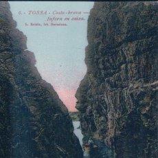 Postales: POSTAL INFERN EN CAIXA-TOSSA DE MAR-COSTA BRAVA (GERONA) FOTO L.ROISIN Nº 6 VIUDA TOMAS. Lote 179038127