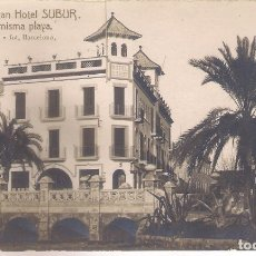 Postales: POSTAL SITGES GRAN HOTEL SUBUR - EN LA MISMA PLAYA .. Lote 179317290