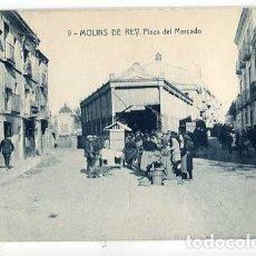 Postales: BARCELONA MOLINS DE REY PLAZA DEL MERCADO. SIN CIRCULAR. Lote 179330382
