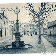 Postales: BARCELONA MOLINS DE REY PLAZA DE CATALUÑA. SIN CIRCULAR. Lote 179330436
