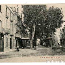 Postales: BARCELONA MATARÓ RAMBLA. ED. P.V.F. SIN CIRCULAR. Lote 179331118