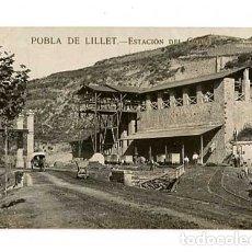 Postales: BARCELONA POBLA DE LILLET ESTACION DEL CABLE. POSTAL FOTOGRÁFICA, ESCRITA. Lote 179331491