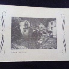 Postales: POSTAL ANTIGUA OSOR EL PUENTE SIN EDITOR CIRCULADA. Lote 179520051