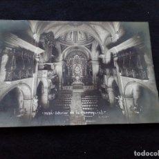Postales: POSTAL FOTOGRÁFICA MOYA INTERIOR DE LA PARROQUIA S.RENOM SIN CIRCULAR. Lote 179520286