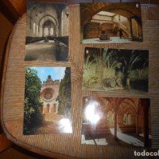 Postales: 4 POSTALES MONASTERIO DE SANTES CREUS I 1 DE POBLET (TARRAGONA ). Lote 179520387