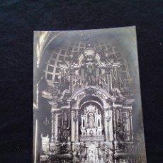 Postales: POSTAL FOTOGRÁFICA MOYA ALTAR MAYOR DE LA PARROQUIA S.RENOM ESCRITA. Lote 179520405