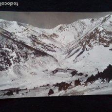 Postales: POSTAL FOTOGRÁFICA NURIA CON EL COLLADO DE FINESTRELLES ZERKOWITZ CIRCULADA. Lote 179528356