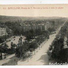 Postales: BARCELONA RONDA DE T. ANTONIO Y CORTES A VISTA DE PAJARO ATV ANGEL TOLDRA VIAZO 112. Lote 179541673