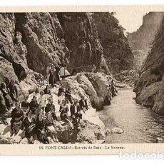 Postales: TARRAGONA FONTCALDA ESTRETS DE BAIX LA BARANA. SIN CIRCULAR. Lote 179541862