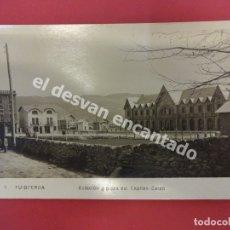 Postales: PUIGCERDA. ESTACIÓN Y PLAZA DEL CAPITÁN GALÁN. Lote 180007438