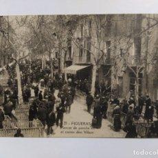 Postales: FIGUERES-MERCAT DE PORCS EN EL CARRER D'EN VILSON-VER REVERSO-(63.258). Lote 180034368